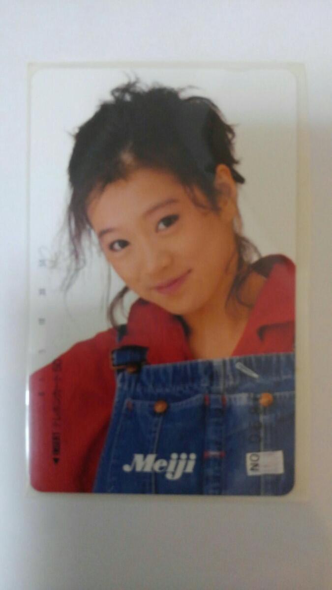中森明菜 テレフォンカード Meiji テレカ50度数 ライブグッズの画像