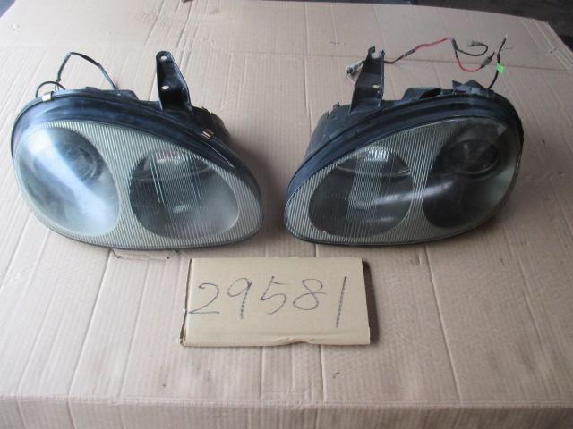 ◆◇カプチーノ EA11R 左右ヘッドライトセット 難◇◆