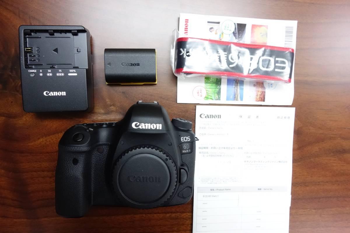 キヤノン CANON EOS 6D Mark II 美品 送料込み