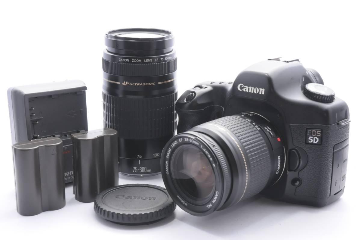 ★超極上★キャノン Canon EOS 5D 望遠ダブルレンズセット