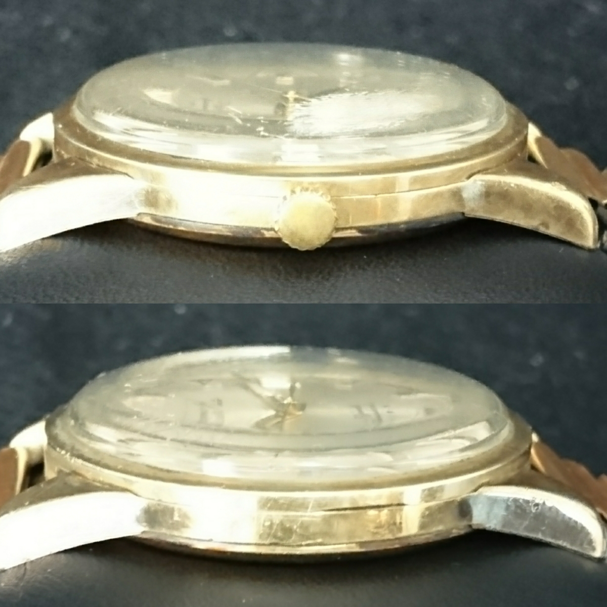 CITIZEN シチズン Super Jet Auto Dater 39jewels スーパージェット 14kGOLDFILLED  稼動品 防風傷あり_画像3