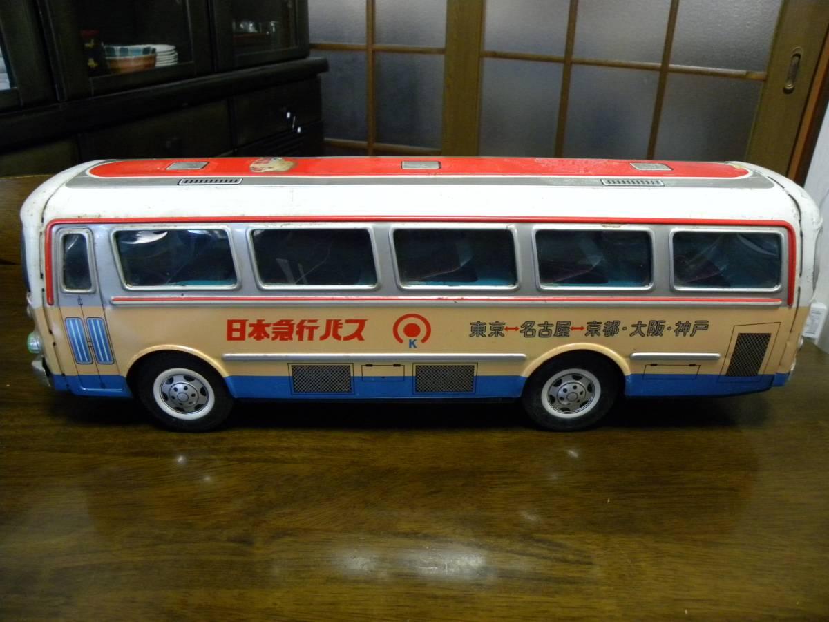 昭和レトロ ブリキ おもちゃ 日本急行バス 全長約48センチ 【紙箱の上のフタ付き