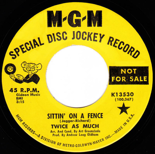 Twice As Much Sittin' On A Fence UK ソフトロック 良好品 試聴