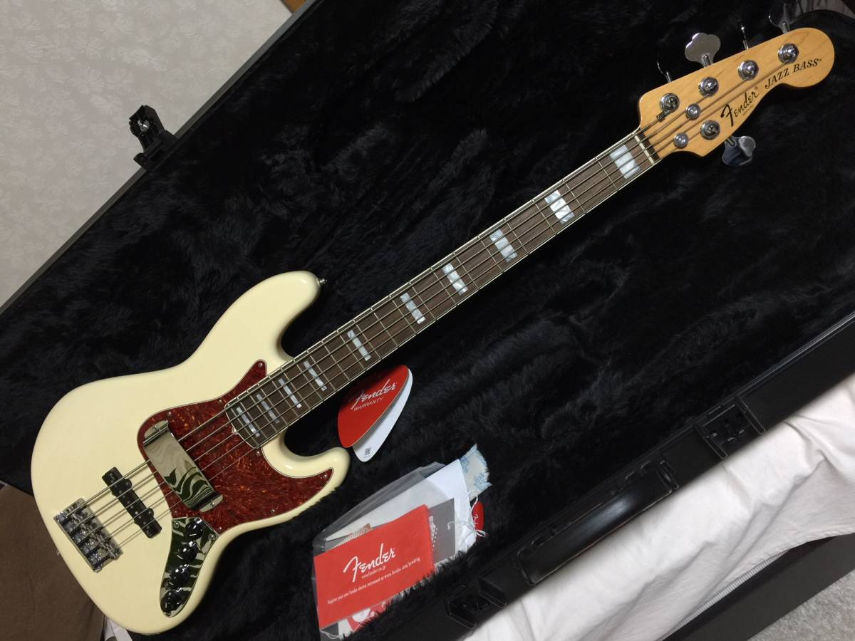 Fender USA American Deluxe Jazz Bass N3 V【Olympic White】5-String (中古)フェンダー