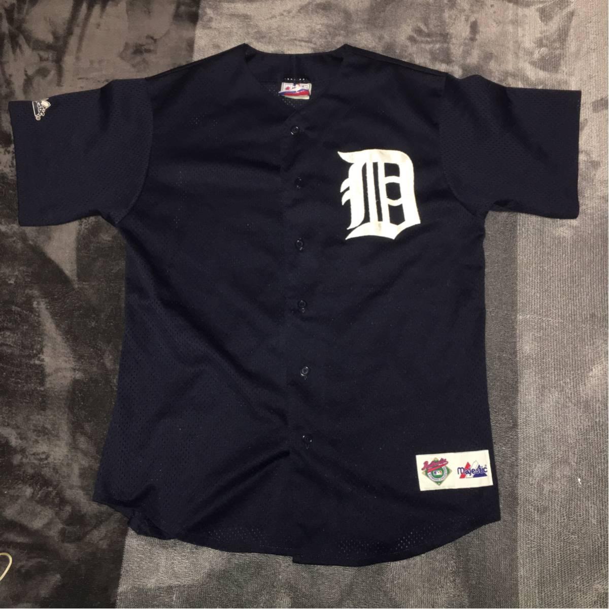 マジェスティック デトロイト タイガース mlb メジャーリーグ ベースボールシャツ majestic M 着丈74cm身幅55cm 肩幅49cm グッズの画像