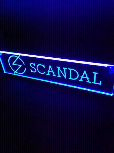 光る 20色発光 プレート ステッカー SCANDAL ライブグッズの画像