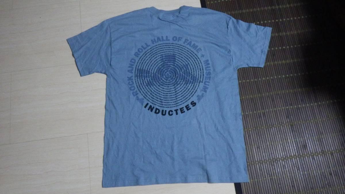 タグ付き新品 00s 半袖Tシャツ ロックの殿堂 2003年 L 送185円 vintage ビンテージ 音楽 ミュージシャン rock music 青 フェス デッド _画像1