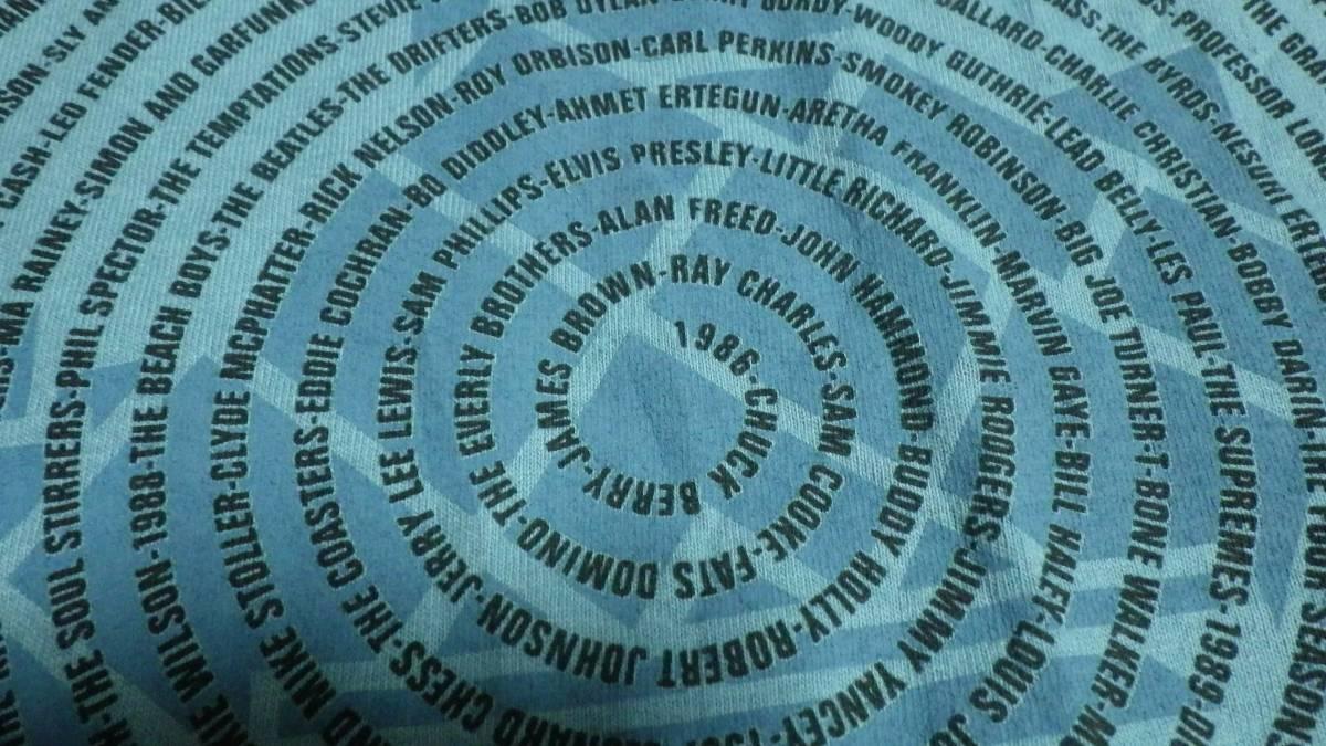 タグ付き新品 00s 半袖Tシャツ ロックの殿堂 2003年 L 送185円 vintage ビンテージ 音楽 ミュージシャン rock music 青 フェス デッド _画像7