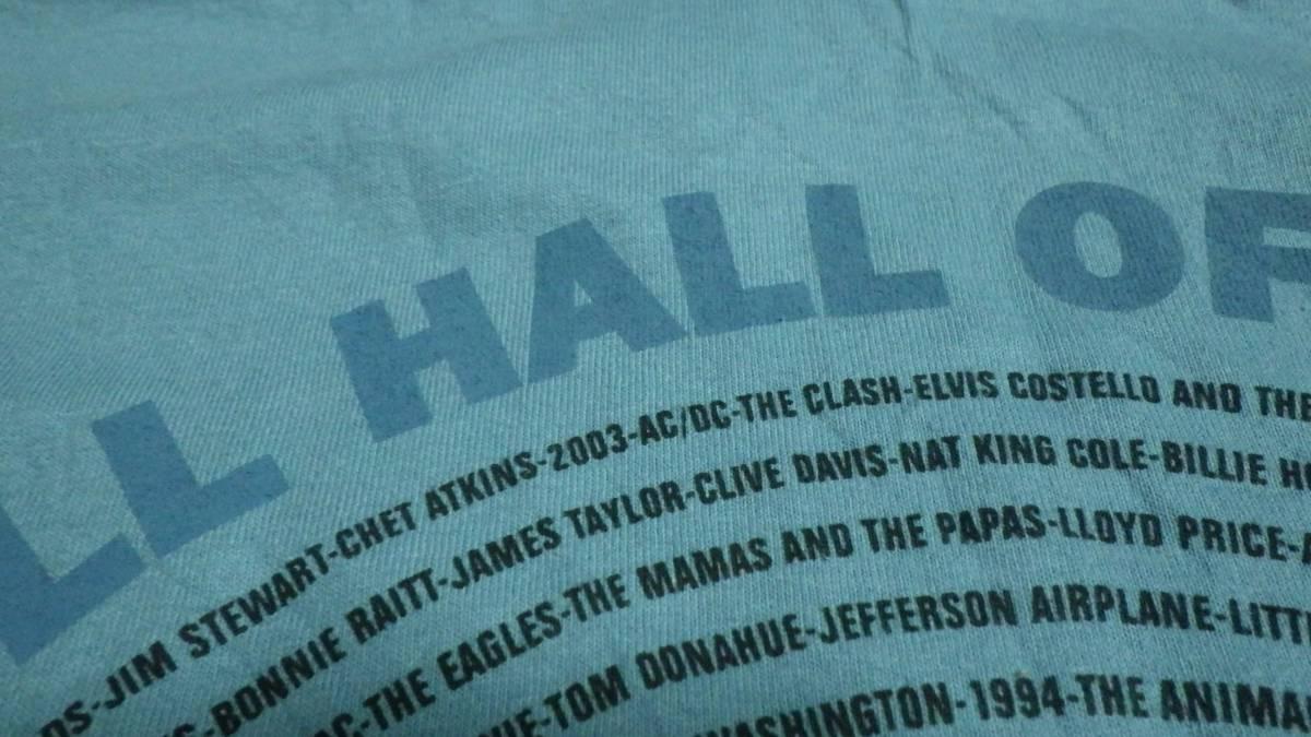 タグ付き新品 00s 半袖Tシャツ ロックの殿堂 2003年 L 送185円 vintage ビンテージ 音楽 ミュージシャン rock music 青 フェス デッド _画像6