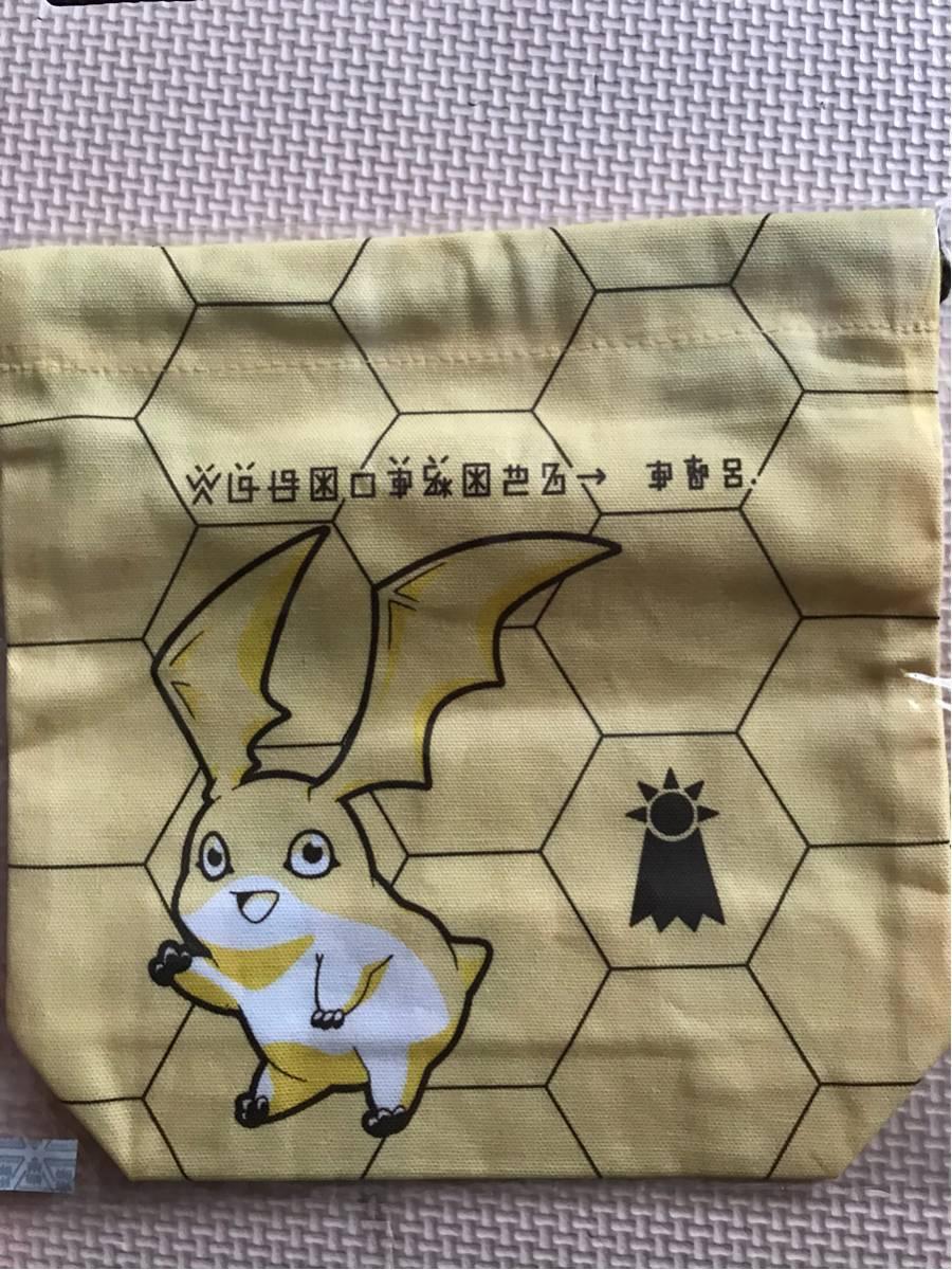 デジモンアドベンチャー tri. ナムコ×アニON オリジナル 巾着 パタモン グッズの画像