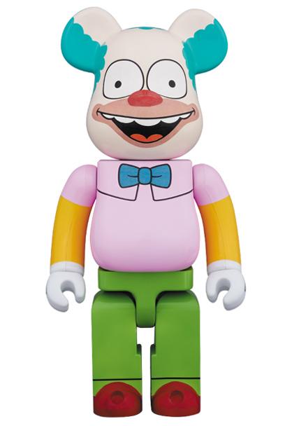 即決! ザ・シンプソンズ クラウン ベアブリック 1000% (BE@RBRICK The Simpsons krusty the clown 新品未開封 kaws bape) グッズの画像