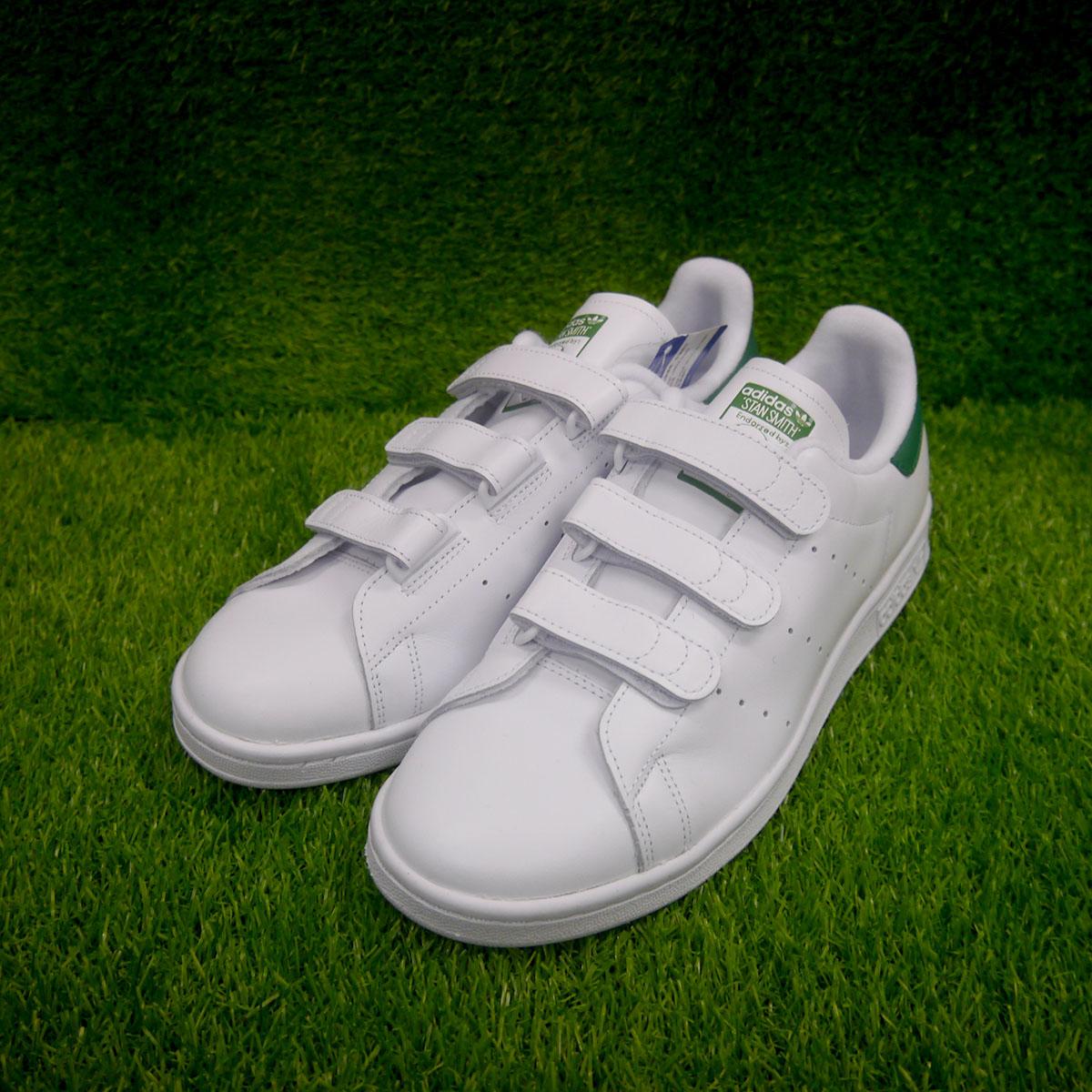 新品 adidas STANSMITH スタンスミス ベロクロ レザー ホワイト US10