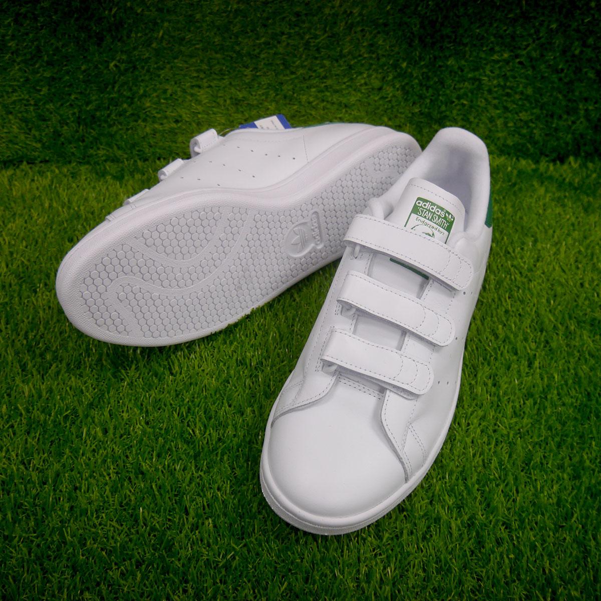 新品 adidas STANSMITH スタンスミス ベロクロ レザー ホワイト US10_画像2