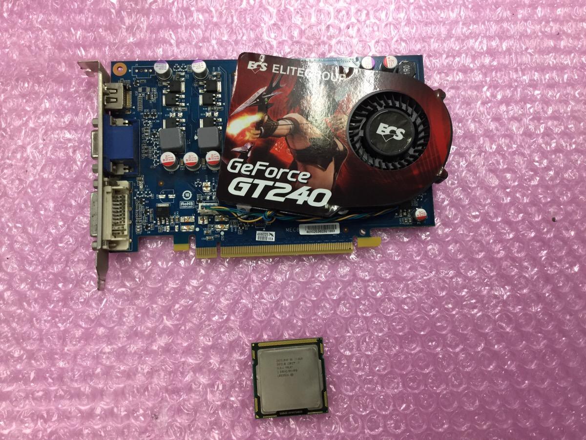 【ジャンク品】CPU INTEL Corei7 860 グラフィックボード GT240 セット 1円スタート【1011⑨】_画像2