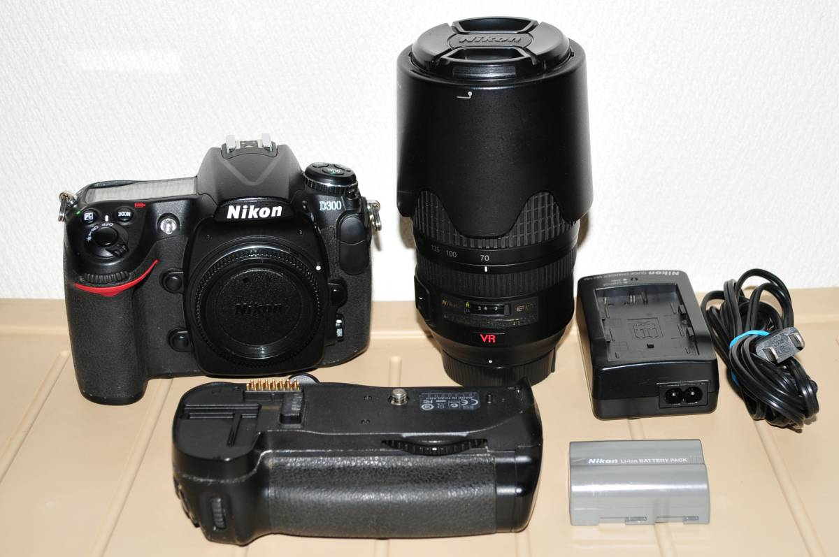 Nikon D300 NIKKOR 70-300㎜ バッテリーグリップセット