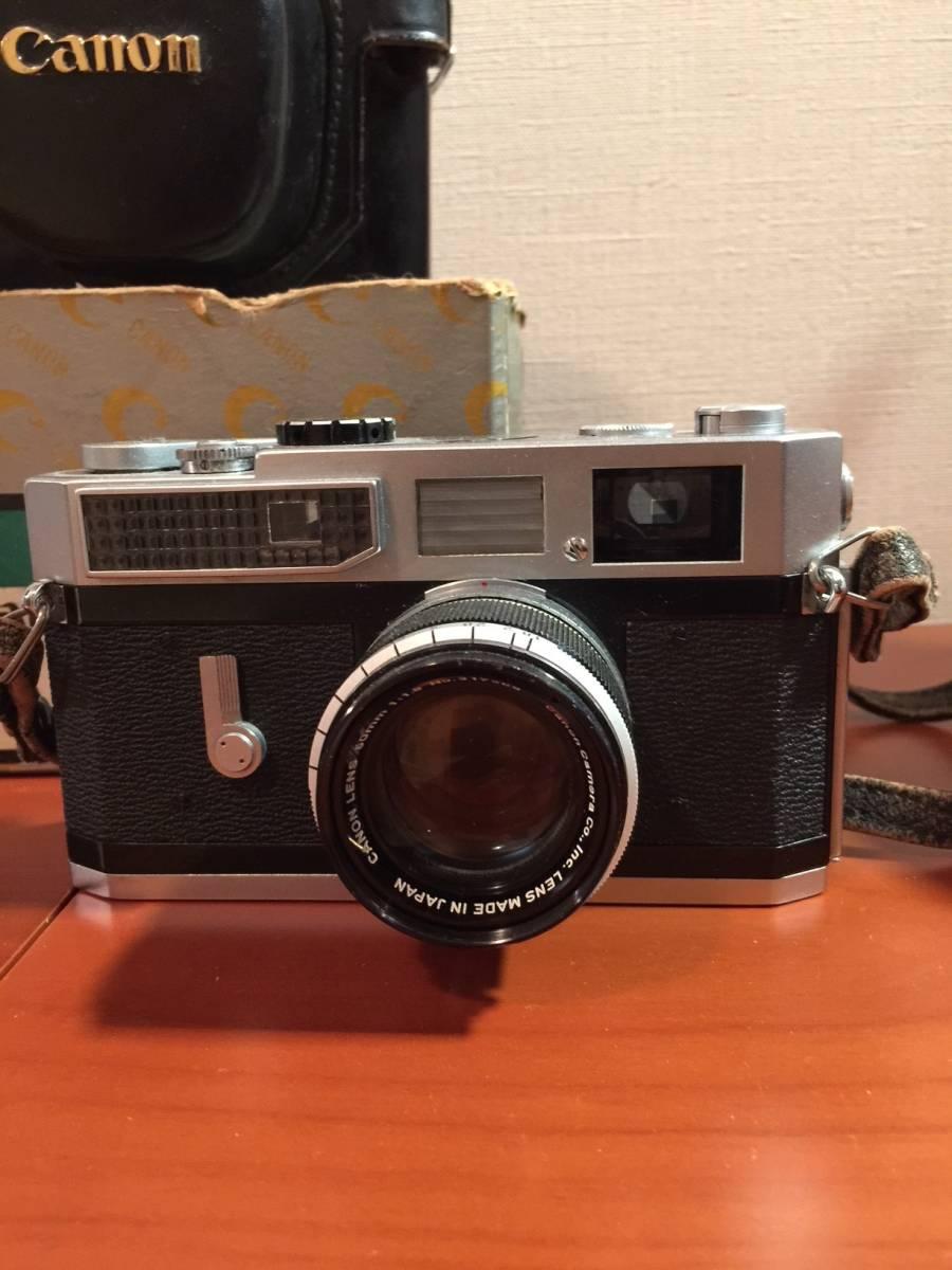 元箱付 キヤノン Canon7 MODEL & Canon LENS 50mm F1.8_画像2