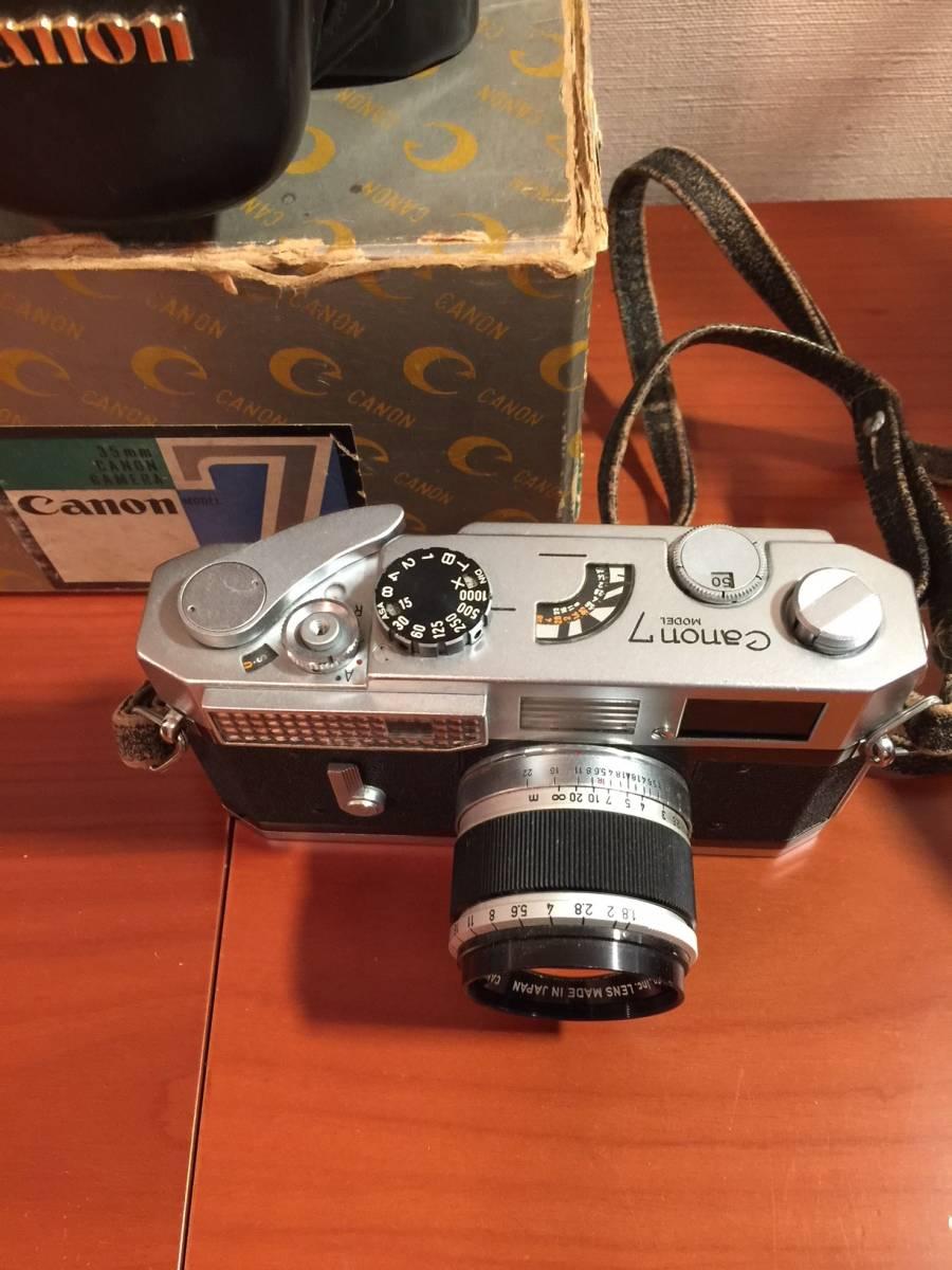 元箱付 キヤノン Canon7 MODEL & Canon LENS 50mm F1.8_画像3