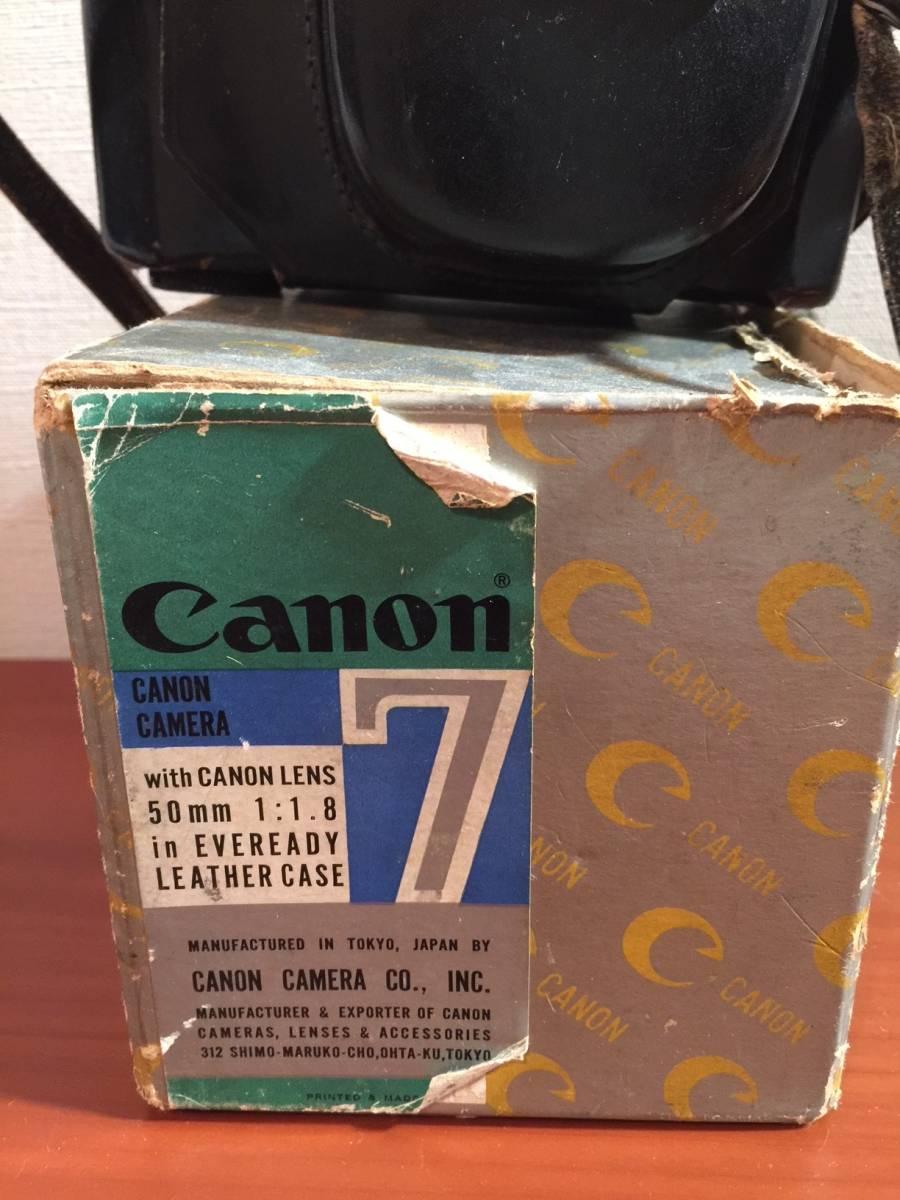 元箱付 キヤノン Canon7 MODEL & Canon LENS 50mm F1.8_画像5