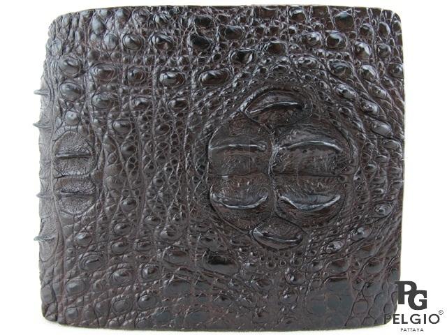 PELGIO☆高級なクロコダイル革の財布★茶色★二折★3_画像2