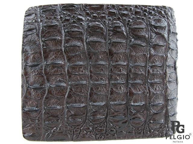 PELGIO☆高級なクロコダイル革の財布★茶色★二折★3_画像3
