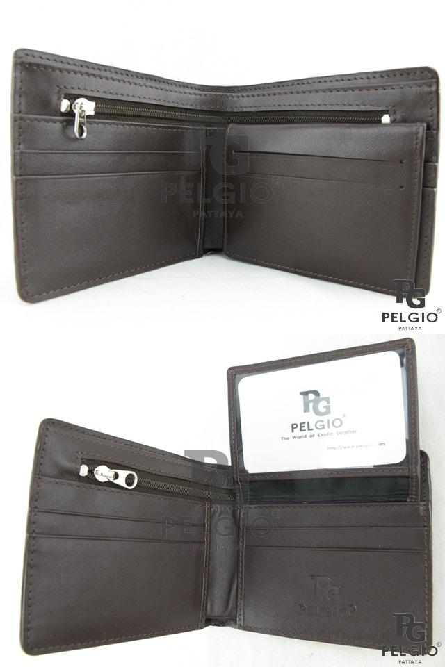 PELGIO☆高級なクロコダイル革の財布★茶色★二折★3_画像5