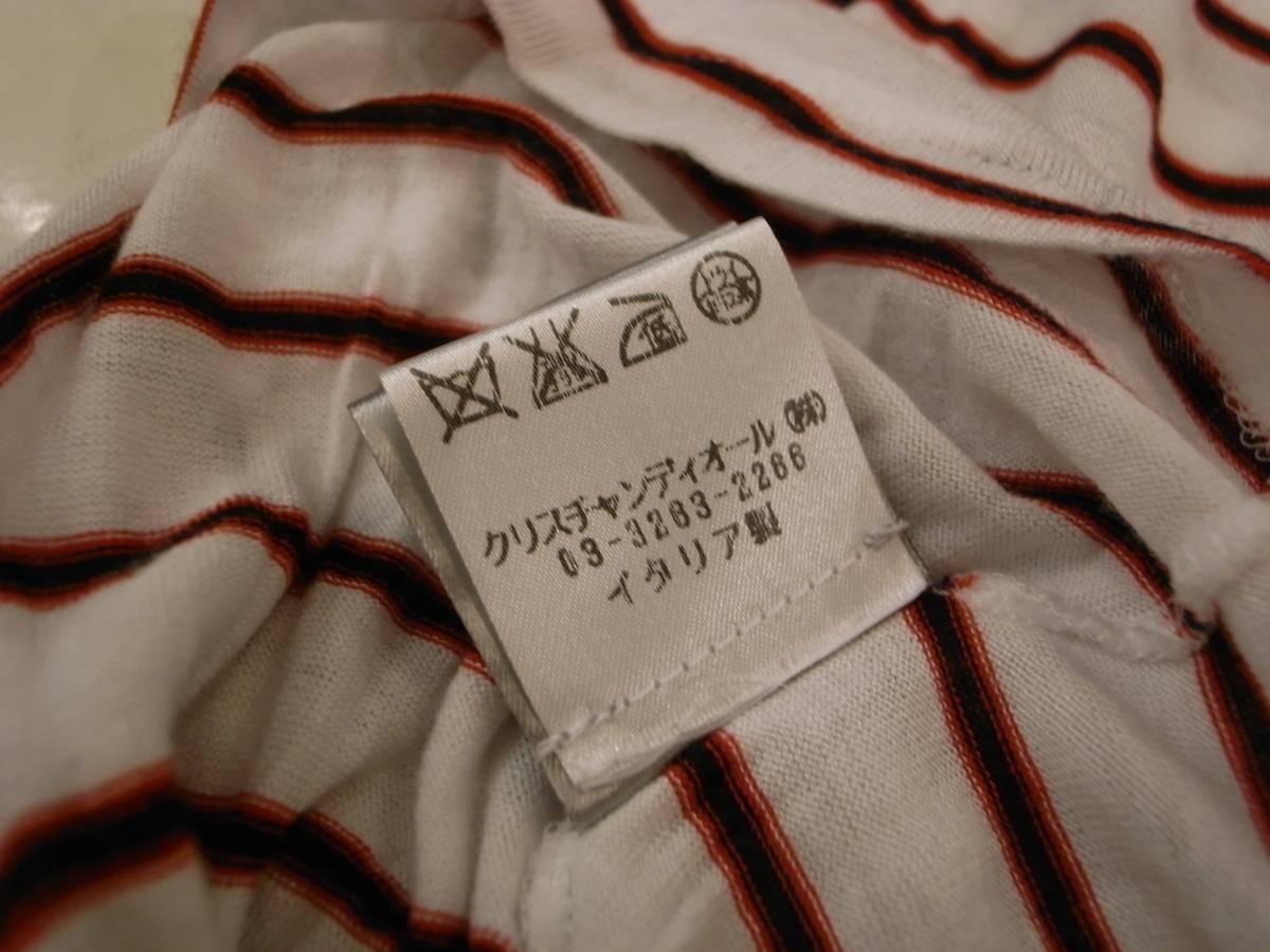 半額以下( XS ) Dior homme ボーダー ドレス ポロ シャツ 半袖 メンズ 白 ディオール オム エディスリマン 42 44 S キムジョーンズ Tシャツ_画像4