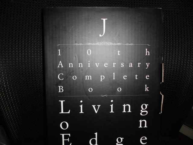 ■J 10th Anniversary Complete Book Living on Edge 写真集■FC限定 直筆サイン、直筆シリアルナンバー入り