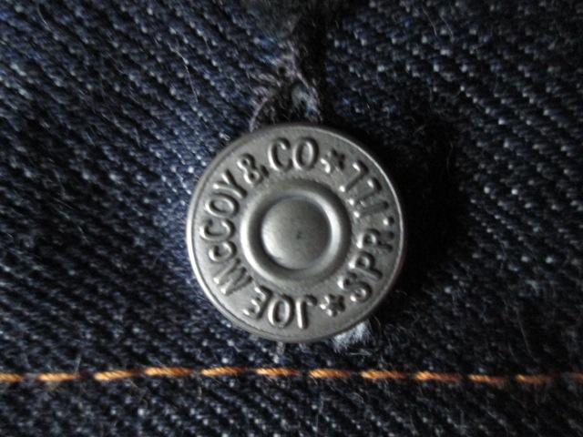 デッドストック 旧ジョーマッコイ LOT 926 2nd 38 JOE McCOY 旧リアルマッコイズ セカンドモデル デニム ジャケット Gジャン ジージャン_画像5