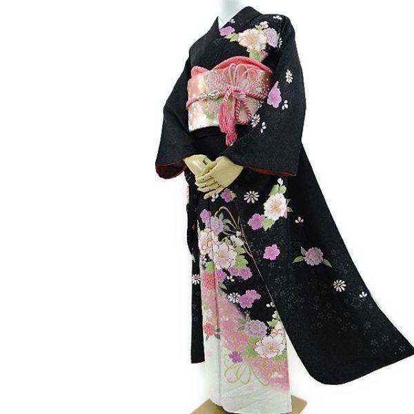 着物の桜 美品 やまと誂製『楚々としてモダンに息づく花の命』振袖・袋帯2点セット s-29