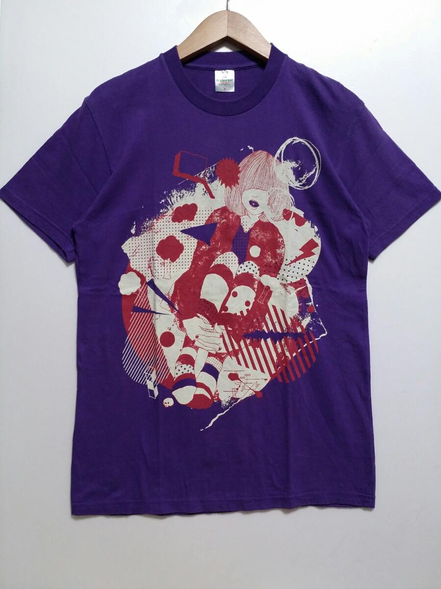 【送料無料】モーモールルギャバン/Tシャツ/バンド/M/パープル/紫/古着/即決
