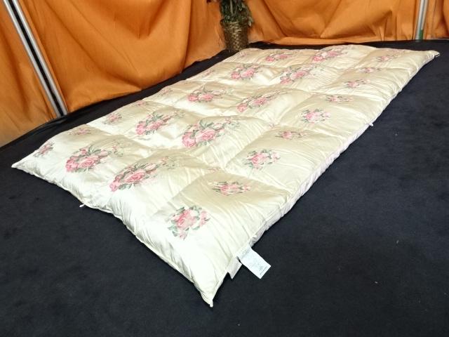 送料無料 丸八真綿 ソワリー ホワイトグース 羽毛布団 シルク 綿 シングルサイズ 28万 展示品
