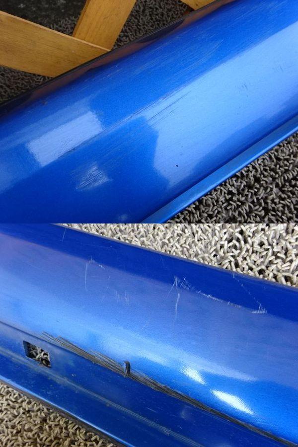 スバル純正 GDB インプレッサ 前期 A型 B型 サイドステップ サイドスカート 左右 ブルー エアロスプラッシュ付き_画像5