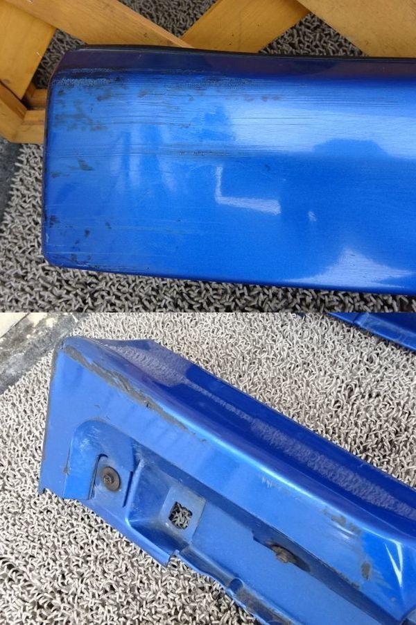 スバル純正 GDB インプレッサ 前期 A型 B型 サイドステップ サイドスカート 左右 ブルー エアロスプラッシュ付き_画像4