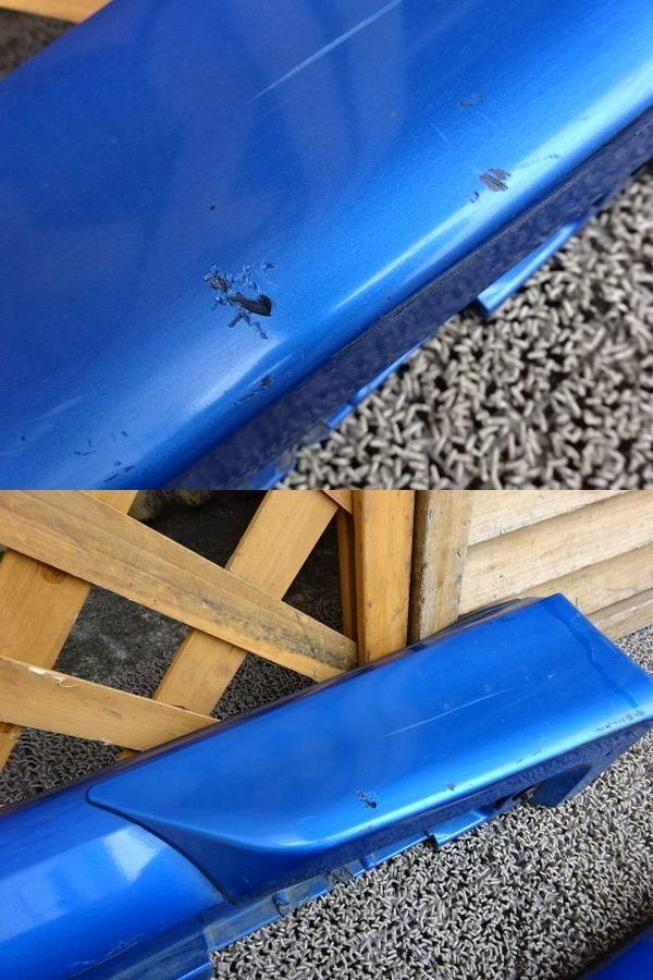 スバル純正 GDB インプレッサ 前期 A型 B型 サイドステップ サイドスカート 左右 ブルー エアロスプラッシュ付き_画像3
