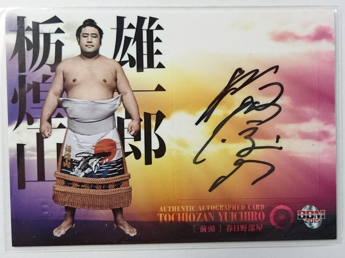 15 BBM 大相撲「粋」【 栃煌山 】 直筆サインカード /60 グッズの画像