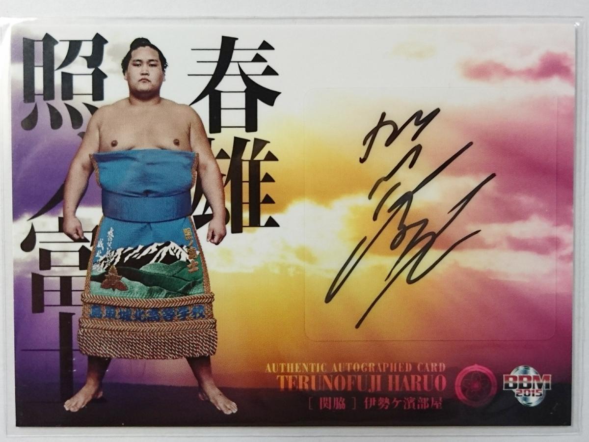 15 BBM 大相撲「粋」【 照ノ富士 】 直筆サインカード /60 グッズの画像