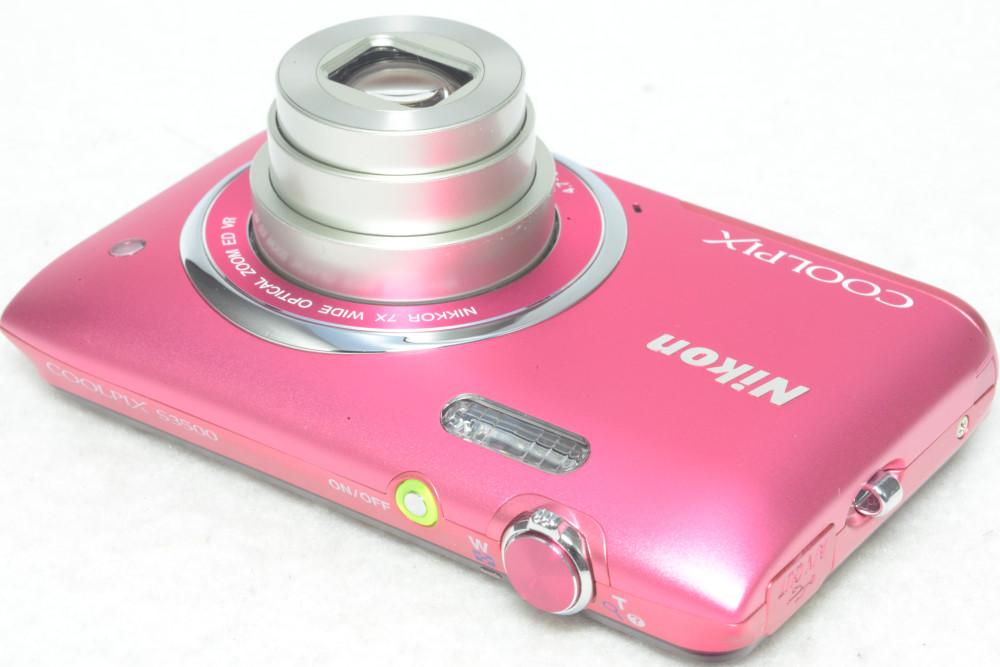 Nikon ニコン COOLPIX S3500 クールピクス DIGITAL コンパクト デジタルカメラ 2005万画素 顔認識 ストロベリーピンク 元箱一式 極美品