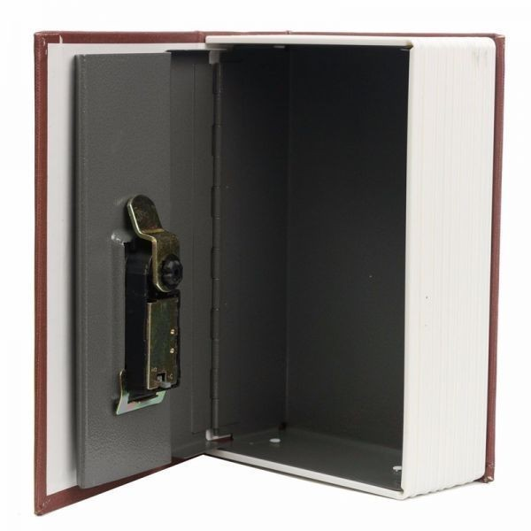 free shipping jewelry storage case simulation dictionary pattern security safe height 17.7cm_ width 11.2cm_ thickness 5.2cm_1
