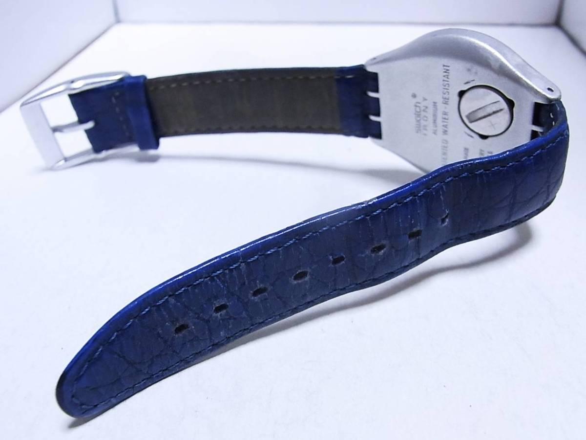【時計】 SWATCH:スウォッチ Irony:アイロニー AG1995 メンズ 3針 電池交換済:稼働品_画像3