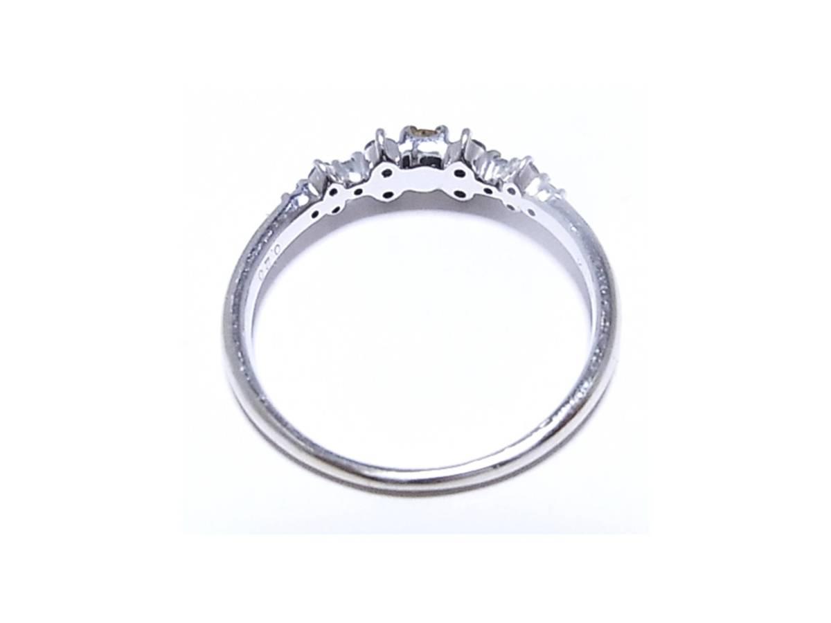 《ジュエリー》K18WG 天然イエローダイヤモンド(鑑定済)付きリング 11号 美しく希少な黄色のカラーダイヤ0.20ct_画像5