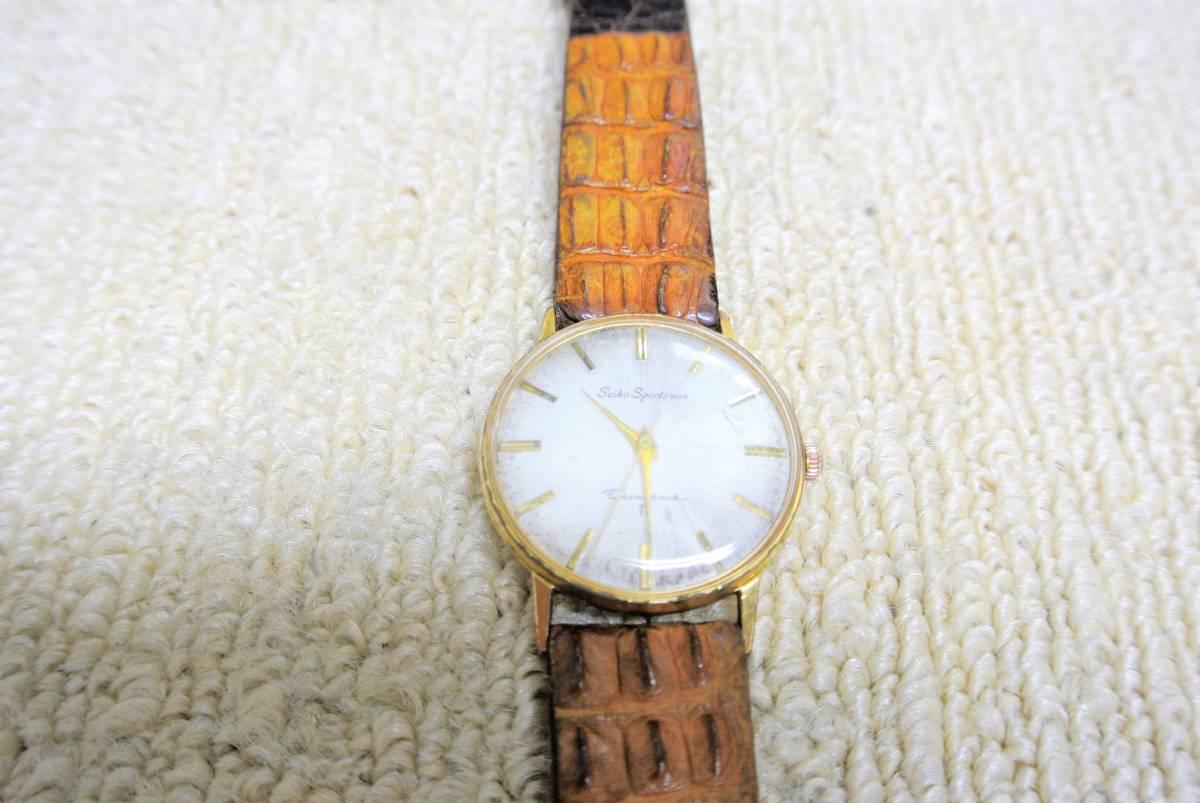 セイコー SEIKO SPORTSMAN Diashock 17 メンズ 手巻 腕時計 i05640_画像3