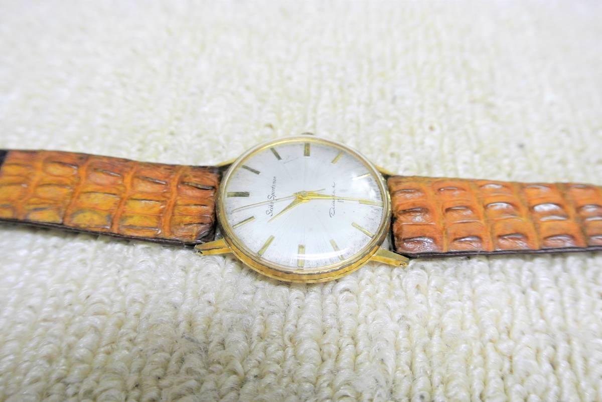セイコー SEIKO SPORTSMAN Diashock 17 メンズ 手巻 腕時計 i05640_画像6
