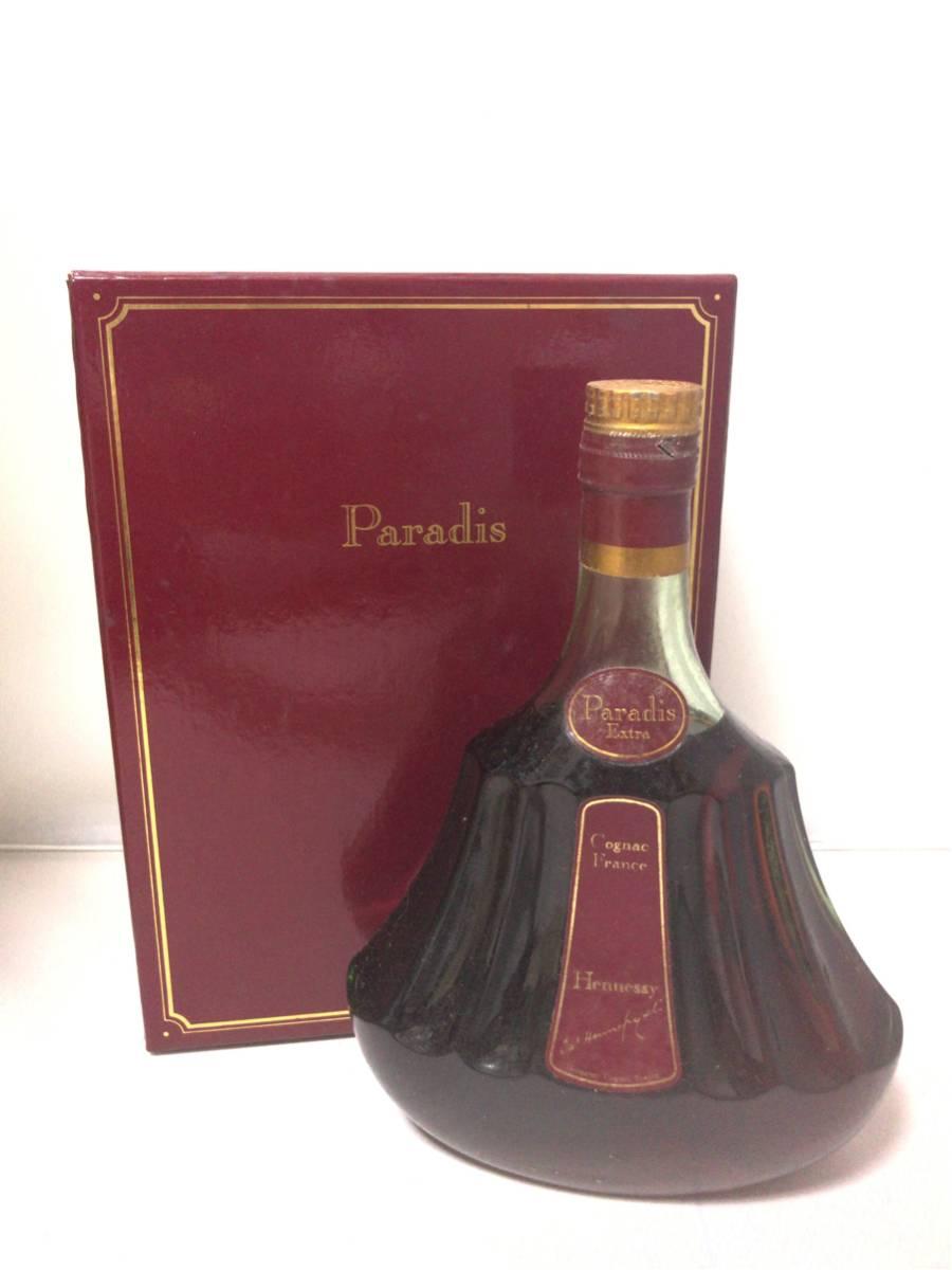 未開栓 古酒 旧ボトル ヘネシー パラディ エクストラ コニャック ブランデー 箱付き 504
