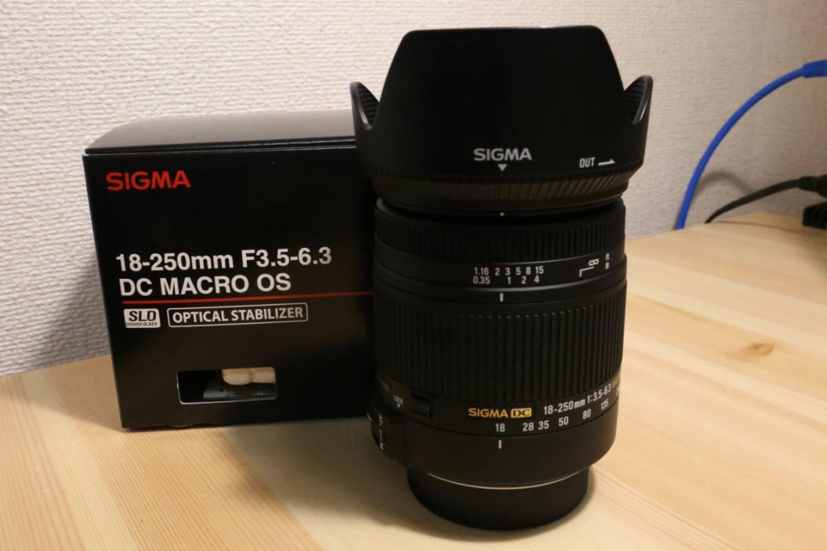 【中古】 SIGMA 18-250mm F3.5-6.3 DC MACRO OS HSM Nikon ニコン用