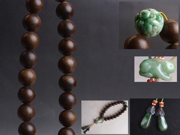 7A1469◆上級の香木で作られた時代沈o木 佛珠手串・数珠 念珠 手珠 仏具 法具 中国古玩