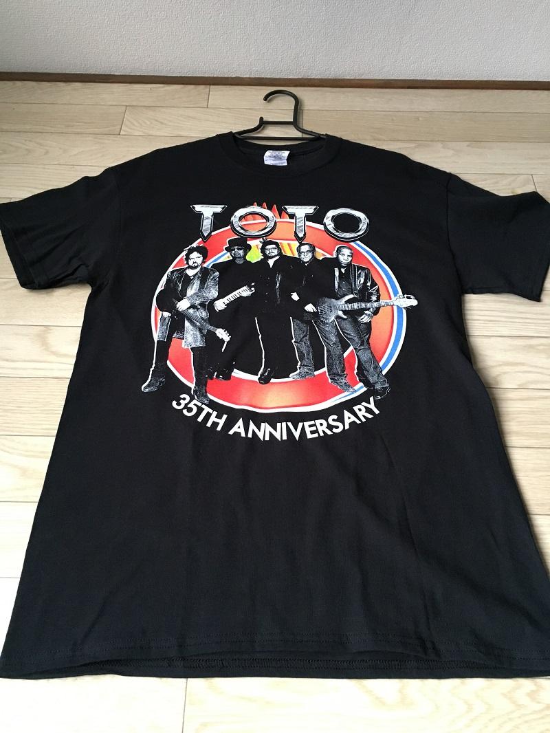 未使用!! レア!! TOTO JAPAN TOUR 2014 ツアーTシャツ バンドTシャツ ハードロック ヘヴィメタル ② MUSICMAN Steve Lukather LUKE