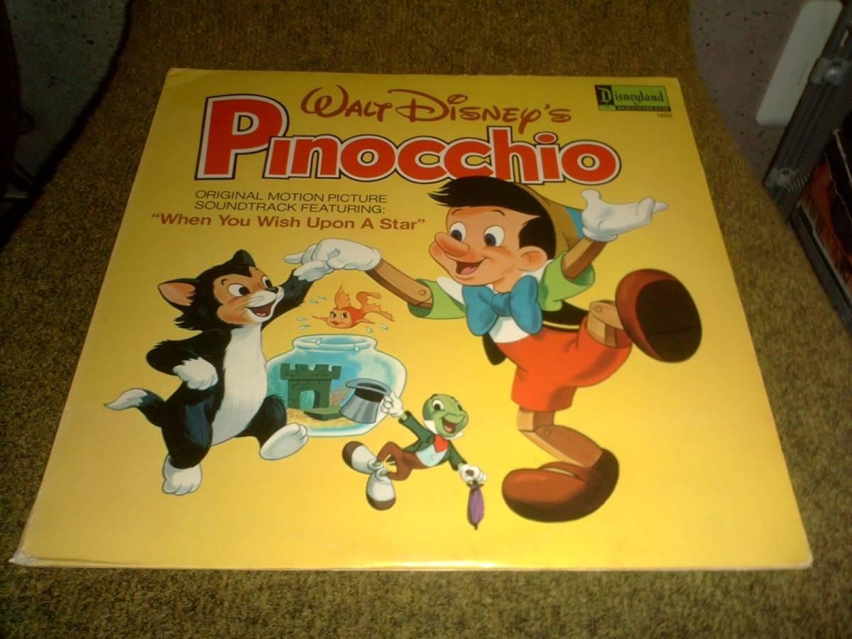 Walt Disney's PINOCCHIO_Disneyland records1202/printed in U.S.A._(ディズニー映画ピノキオOSTサウンドトラック) グッズの画像
