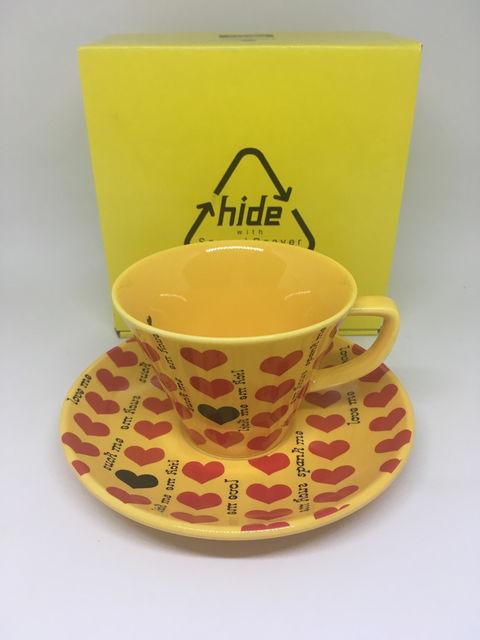 hide 昴珈琲 カップ&ソーサー x japan スバルコーヒー イエローハート ライブグッズの画像