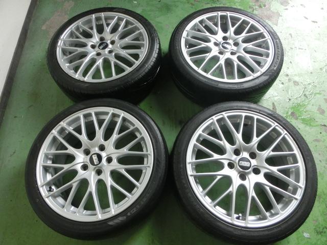 BBS 7.5J+48 PCD114.3 ホイール 4本セット タイヤ付 №1198