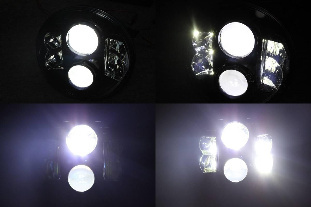 *2年保障! ラインナップ中最強照度の爆光LEDヘッドライト ボディ付きセット! XJR400,XJR1200,XJR1300,SR400への装着に!_画像9